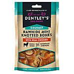 Dentley's® Gourmet Mini Rawhide Knotted Bones Dog Treats - Chicken