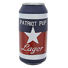 "Top Paw® Americana ""Patriot Pup"" Lager Can Dog Toy - Squeaker"