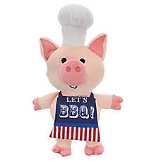 Top Paw® Americana Pig Cook Dog Toy - Plush, Squeaker