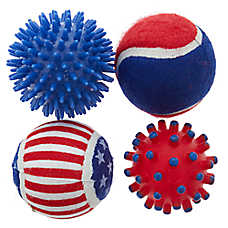 Top Paw® Americana Balls Dog Toy - 4 Pack