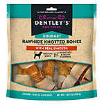 Dentley's® Gourmet Rawhide Knotted Bones Dog Treats - Chicken