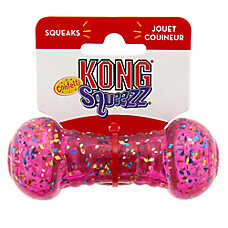 KONG® Confetti Squeezz® Dumbbell Dog Toy - Squeaker