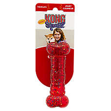 KONG® Confetti Squeezz® Bone Dog Toy - Squeaker (COLOR VARIES)