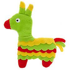 Top Paw® Holy Guacamole Pinata Flattie Dog Toy - Crinkle
