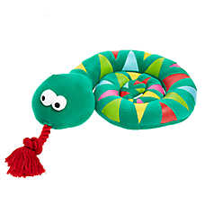 Top Paw® Holy Guacamole Snake Rope Dog Toy - Plush, Squeaker