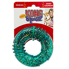 KONG® Confetti Squeezz® Ring Dog Toy (COLOR VARIES)