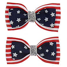 Top Paw® Americana Flag Hair Bows