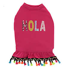 "Top Paw® Holy Guacamole ""Hola"" Tassels Pet Dress"