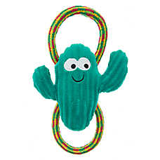 Top Paw® Holy Guacamole Cactus & Rope Dog Toy - Plush, Squeaker