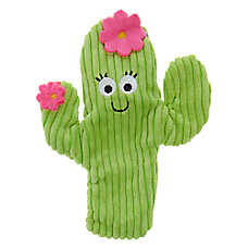 Top Paw® Holy Guacamole Cactus Flattie Dog Toy - Crinkle, Squeaker