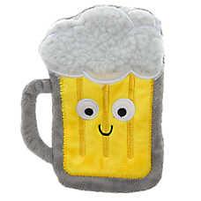Top Paw® Holy Guacamole Beer Mug Flattie Dog Toy - Crinkle, Squeaker