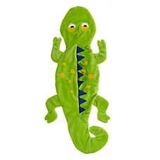 Top Paw® Holy Guacamole Lizard Flattie Dog Toy - Crinkle, Squeaker