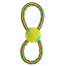 Top Paw® Holy Guacamole Rope & Tennis Ball Dog Toy