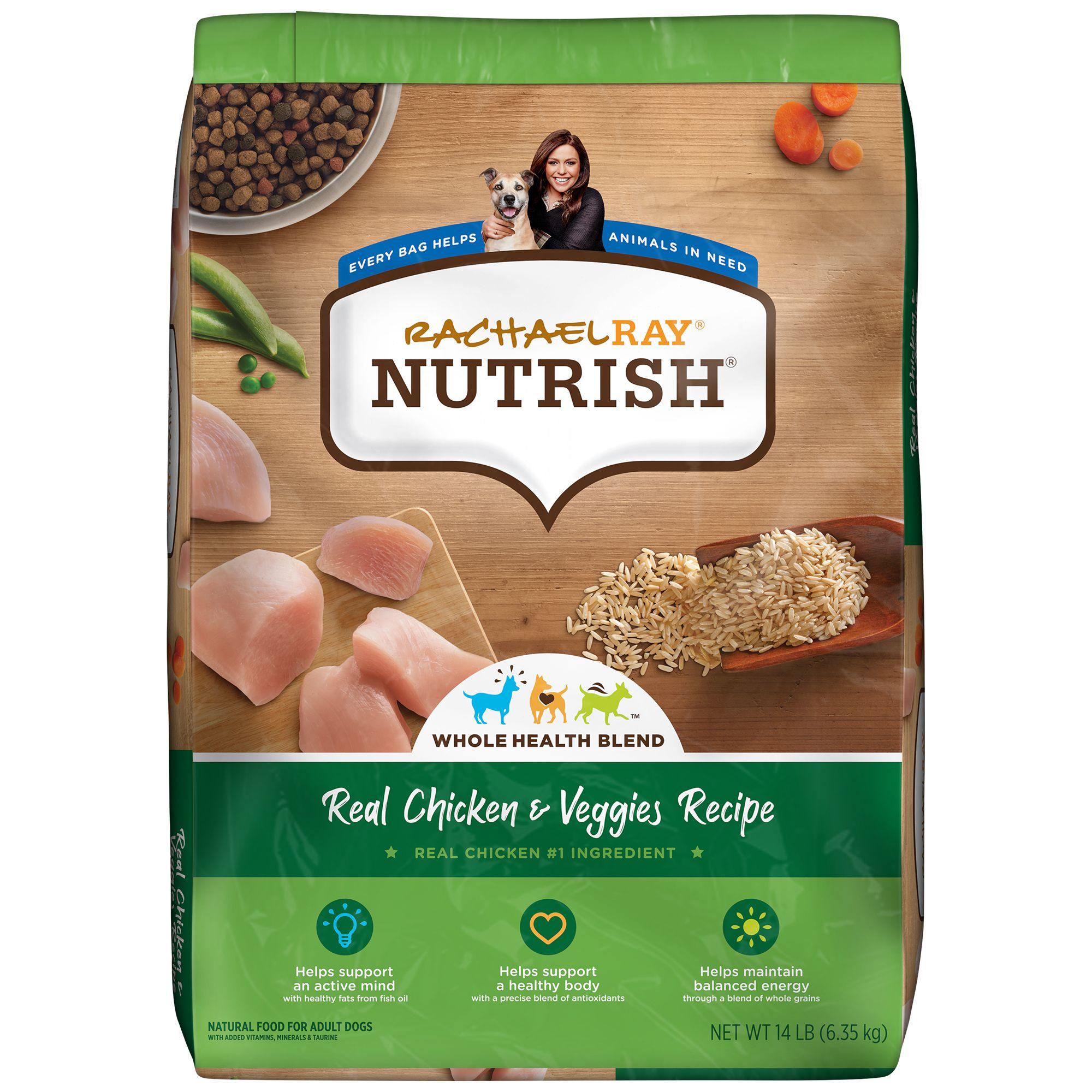 Rachael Ray Nutrish Dog Food Natural Chicken Veggies Recipe