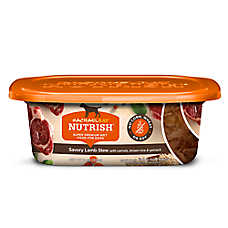 spend $20, save $5 off now entire stock Rachael Ray™ Nutrish® dog food, 4.5-48 oz. cans, tubs & variety packs