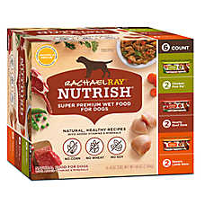 spend $20, get $5 off now	entire stock Rachael Ray™ Nutrish® dog food, 3.5-48 oz. tubs, cups, cans, & variety packs