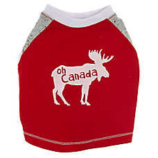 "Top Paw® Canada Day ""Oh Canada"" Moose Pet Tee"
