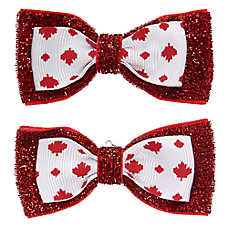Top Paw® Canada Day Pet Hair Bows