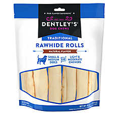 Dentley's® Traditional Rawhide Rolls Dog Treats