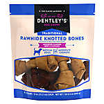 """Dentley's® Traditional 6"""" Rawhide Knotted Bones Dog Treats - Assorted, Beef & Chicken"""