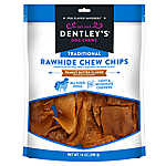 Dentley's® Traditional Rawhide Chew Chips Dog Treats - Peanut Butter