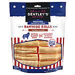 Dentley's® Premium American Made Rawhide Rolls Dog Treats