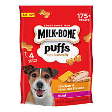 MILK-BONE® Puffs Light & Crunchy Mini Dog Treat - Chicken & Cheddar Flavor