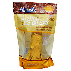 Grillerz Flavor Fusionz Dog Treat, Beef Bone Basted with Bacon Cheddar, Medium