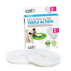 Catit® Triple Action Fountain Filters - 2 Pack