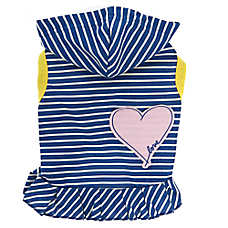 ED Ellen DeGeneres Heart & Stripes Hooded Pet Dress