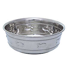 Whisker City® Stainless Steel Fish Cat Bowl