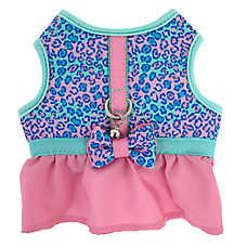 Whisker City® Leopard Bow Skirt Cat Harness