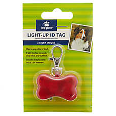 Top Paw® Light-Up Flashing Safety ID Tag
