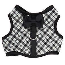 Top Paw® Bow Tie & Plaid Vest Dog Harness