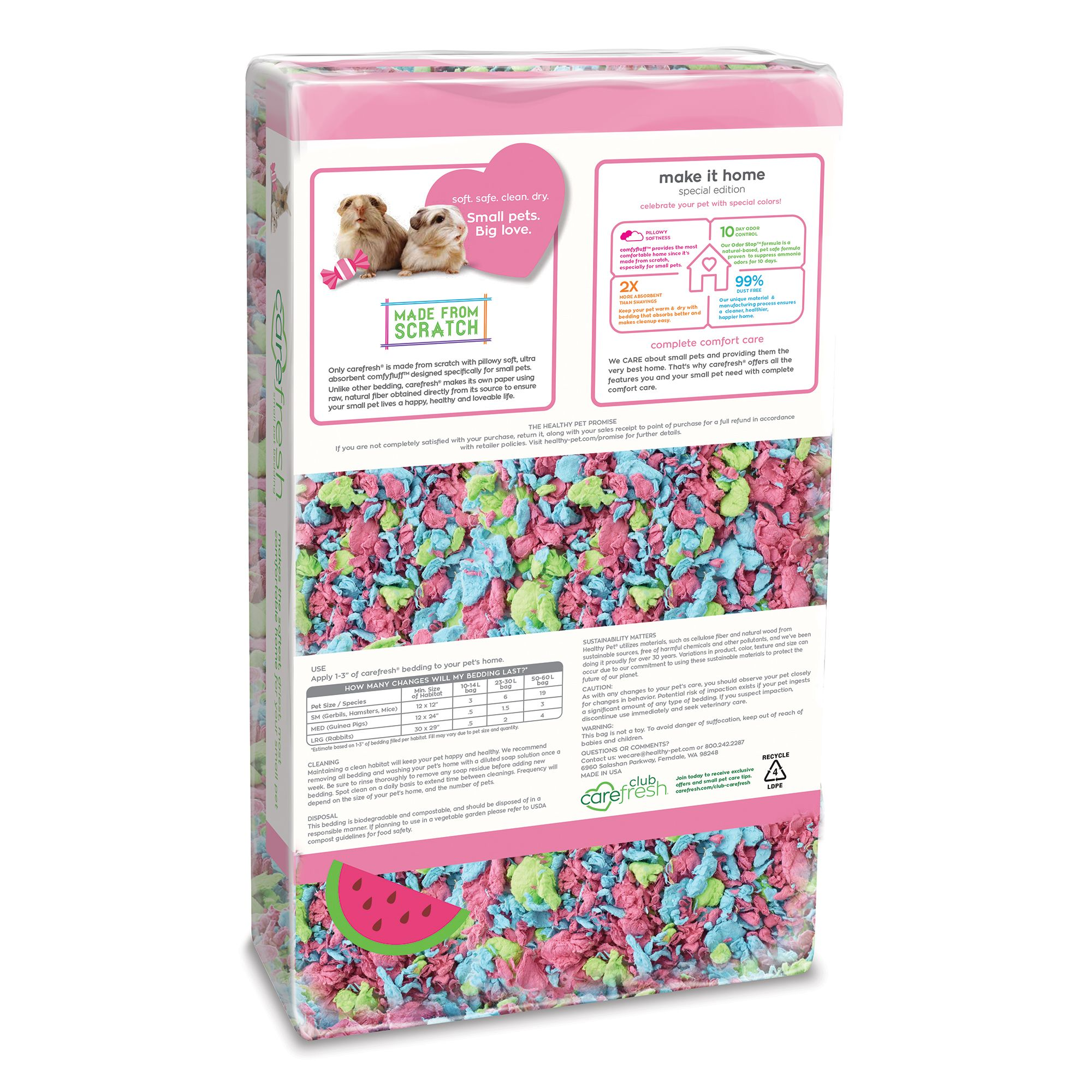 carefresh bedding tutti frutti