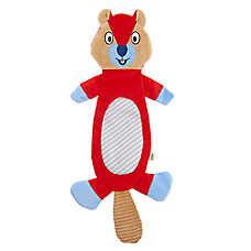 ED Ellen DeGeneres Chipmunk Flattie Dog Toy - Crinkle, Squeaker