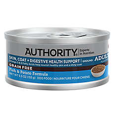 Authority® Skin, Coat + Digestive Healthy Support Ground Entree Wet Adult Dog Food - Grain Free