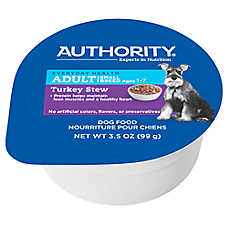 Authority® Small Breed Adult Stew in Gravy Wet Dog Food