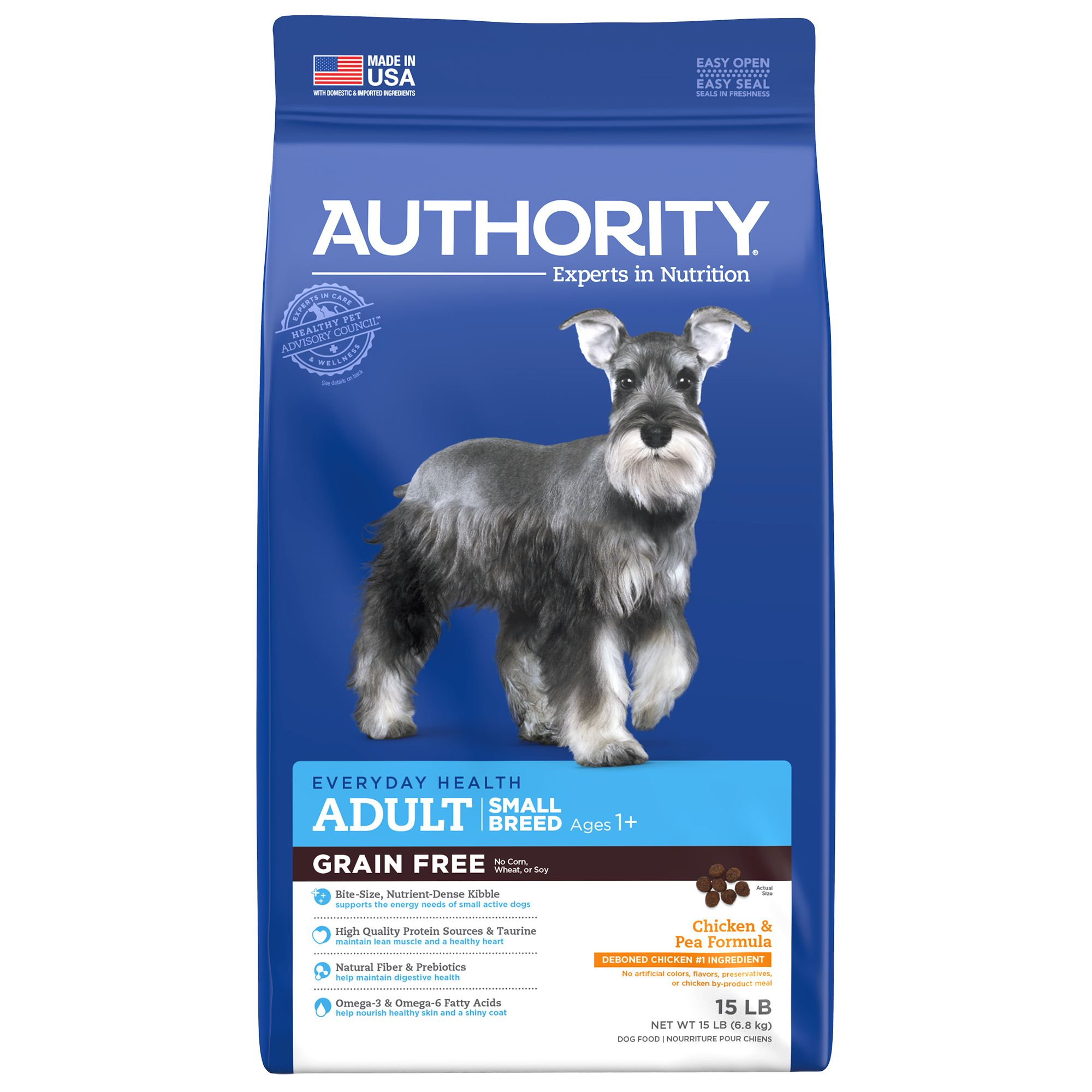 Free Adult Photos authority small breed adult dog food - chicken & pea, grain free