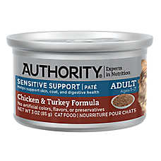 Authority® Sensitive Support Pate Entree Adult Wet Cat Food