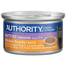 Authority® Indoor Pate Entree Mature Adult Wet Cat Food