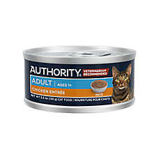 save 10¢ ea.	when you buy 12+ entire stock Authority® cat food, 3-5.5 oz. cans, cups & pouches