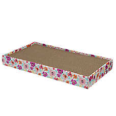 Grreat Choice® Double-Wide Floral Cat Scratcher