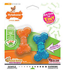Nylabone® FlexiChew® Tiny Twin Pack Dog Toys - 2 Pack