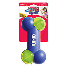 KONG® Action Squeezz® Bone Dog Toy - Squeaker