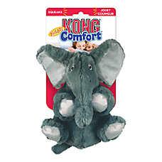 KONG® Kiddos Comfort™ Elephant Dog Toy - Plush, Squeaker