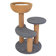 Whisker City® Mini Cat Tower & Cushioned Perch