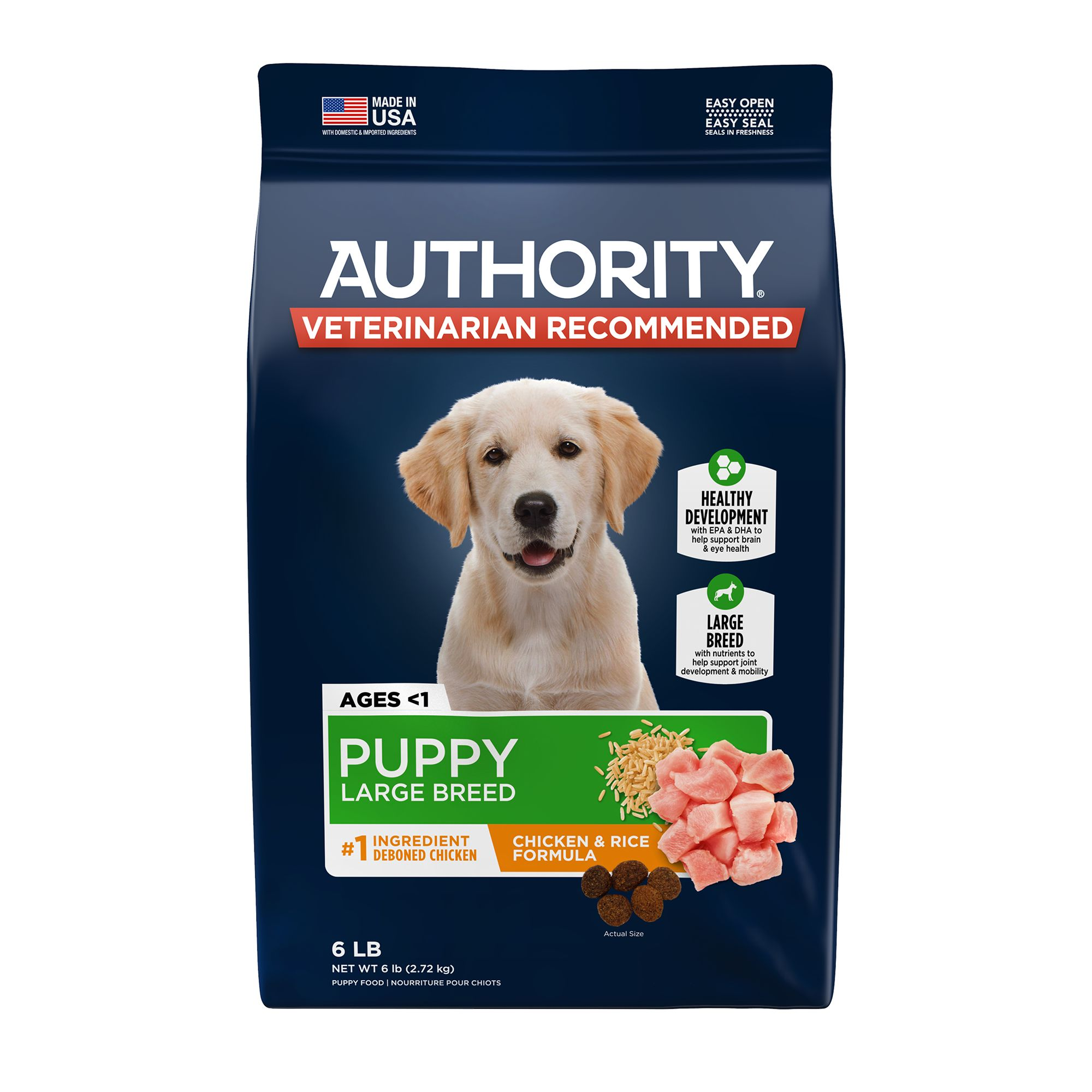 Authority Large Breed Puppy Food Chicken Rice