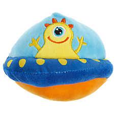 Grreat Choice® UFO Dog Toy - Plush, Squeaker