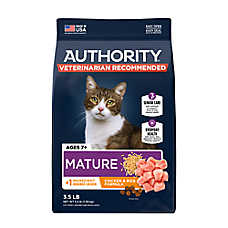 Authority® Mature Adult Cat Food - Chicken & Rice